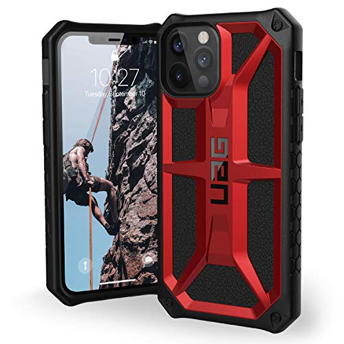 URBAN ARMOR GEAR UAG Designed for iPhone 12 Case/iPhone 12 Pro Case [6.1-inch Screen] Rugged Lightweight Slim Shockproof Premium Monarch Protective Cover, Crimson