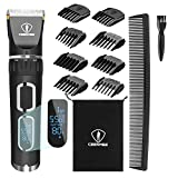 Ceenwes Hair Clippers Professional Heavy Duty Barber Shavers Machine 3-Speed Rechargeable Cordless Haircutting Tools for Men and Family Use