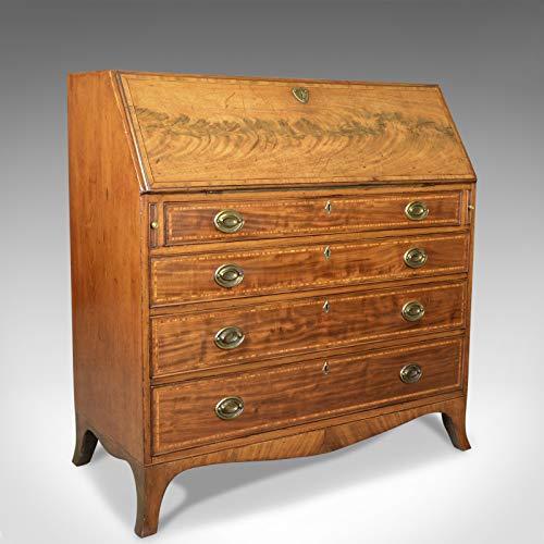 London Fine Antiques Oficina de Antigüedades, Caoba, Inglés, Georgiano, Escritorio, Siglo XVIII, Circa 1770