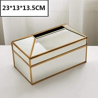 Hogar Caja De Pañuelos Caja De Pañuelos De Espejo Dorada ...