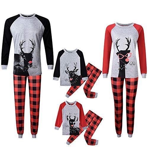 Pijamas De Navidad Familia Conjunto Pantalon y Top Mujer...