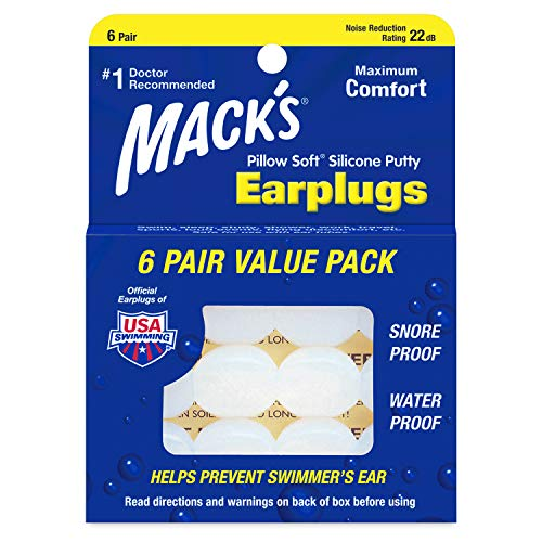 Macks Pillow Soft Silicone Earplugs 6 Pair Value Pack x2
