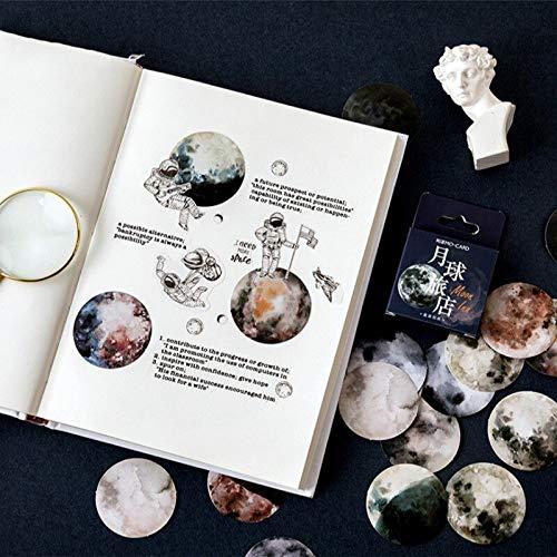 YCYY 46 unids/Caja Pegatina de Luna romántica Pintura de Dibujos Animados Pegatina Decorativa Clip Scrapbook Material Escolar
