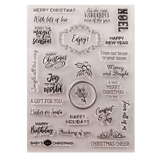 VAILANG Happy Birthday Weihnachten Silikon Clear Seal Stempel DIY Scrapbooking Präge Fotoalbum Dekorative Papier Karte Handwerk Kunst Handgemachtes Geschenk