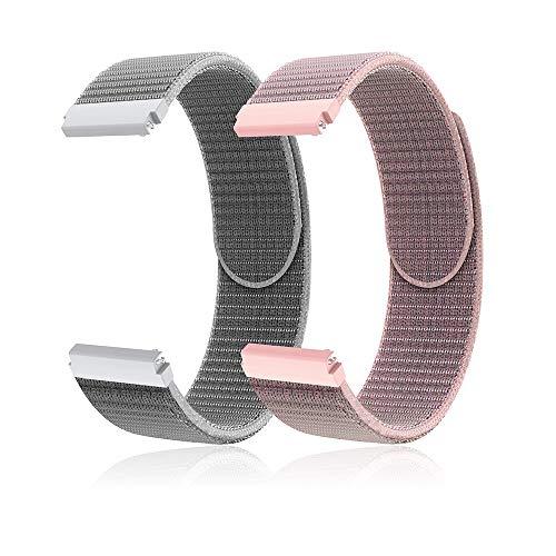 TOPsic Galaxy Watch Active 40mm Armband, 20mm Universal Ersatzarmband für Samsung Galaxy Watch Active2/Galaxy Watch 42mm/Gear Sport/Gear S2 Classic/Garmin Vivoactive 3 Armband Uhrenarmband