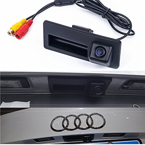 HDMEU HD Color CCD Waterproof Vehicle Car Rear View Backup Camera, 170° Viewing Angle Reversing Camera for Audi A3 A4 A4L S4 A5 S5 Q3 Q5 A6 A7 A6L A8L S6 S7 RS5 VW Golf VI Tiguan Touareg Sharan Passa