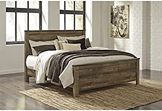 Ashley Furniture Trinell King Panel Bed in Brown