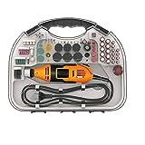 Odoukey 82pcs Taladro eléctrico Hobby Craft Mini Taladro Grinder Multi Sistema de Herramienta de la Herramienta Rotatoria (Naranja)