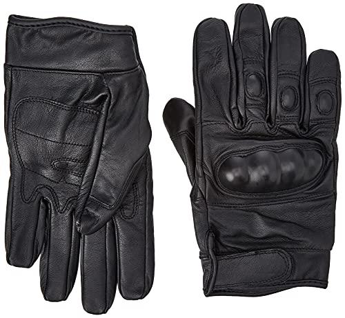 gants cuir noir coque taille L, airsoft moto