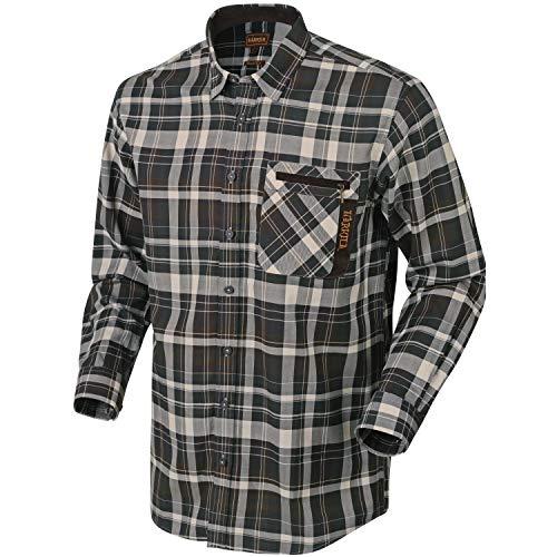 Härkila Newton Karohemd für Herren aus 100% Baumwolle - Outdoorhemd kariert für Männer in verschiedenen Farben - Kariertes Baumwollhemd für den Outdooreinsatz , Größe:XL, Farbe:Grün