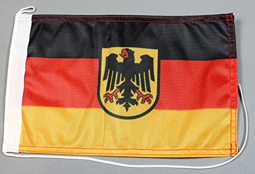 Buddel-Bini Bootsflagge Deutschland Dienstflagge Adler 20 x 30 cm in Profiqualität Flagge Motorradflagge