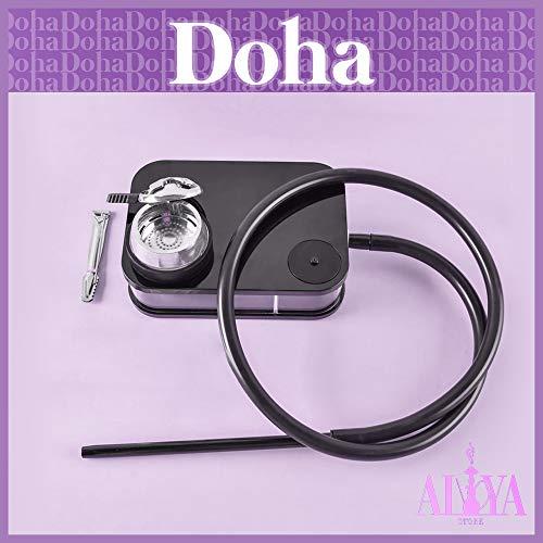 MXHJ (98 cm) (20 kg) Shisha Hookah Arabian Shisha - Shisha - Shisha - Shisha - Shisha - Lámpara LED portátil cuadrada - Incluye silicona - Tubo de silicona