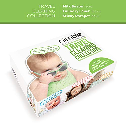 Nimble Starter Kit - All Nimble Best Seller Products in One (Milk Buster, Sticky Stopper, Laundry Lover) (3 Pack)