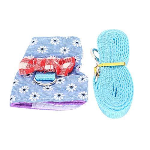 SALUTUYA Correa de Pecho para Mascotas pequeñas Copo de Nieve Azul para Ardilla para Chinchilla(S)