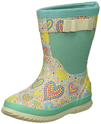 Northside Girls' NEO Rain Boot, Gray/Mint, 2 Medium US Little Kid