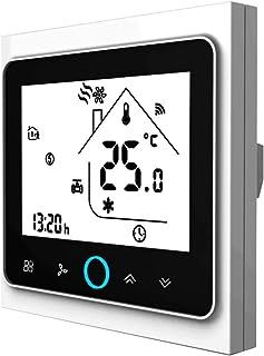 Contrôleur de température Wifi Thermostat WIFI Climatisation intelligente Contrôleur de température programmable avec écra...
