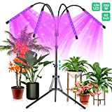 CrazCalf 120 LED Grow Light for Indoor Plants 100W Four-Head Plant Light with Stand 9 Levels Brightness LED...
