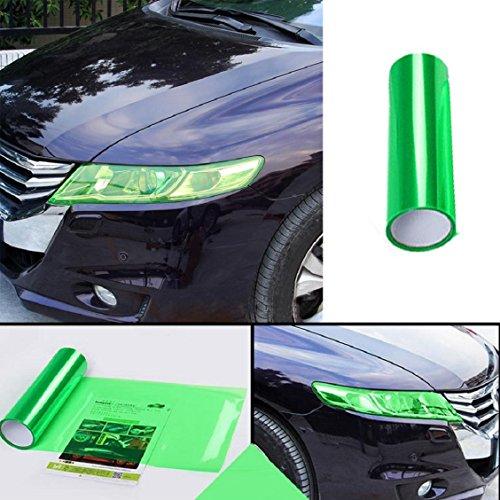 Naladoo Car Headlight Fog Lamp Protect Film Vinyl Wrap Overlays Sheet for All Car (Green)