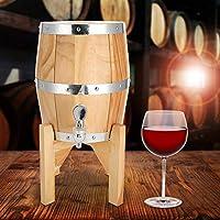 3Lオークビール樽、飲料ビールウイスキー用ステンレス鋼ライナーオークウッドホームバーワイン樽樽樽(ウッドカラー)