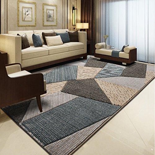 Mjb Home Tapis Salon Chaud carré Fight Gris antidérapant Tapis rectangulaire 160 * 230 cm, 80 * 150cm-a