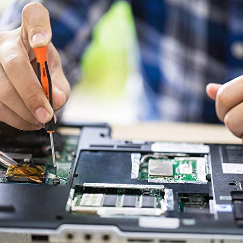 Precision Screwdriver Set, TACKLIFE 12Pcs Precision Repair Tool Kit, Philips, Slot, Torx Star, Magnetic Tips, for Phone/Watch/Jewelry/Eyeglasses/PC Repair - HSS2A
