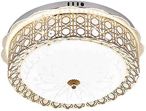 Lámparas de techo de vidrio, luz americana ajustable Luz de techo LED, dormitorio dorado Sala de estar Sala Comedor Balcón Iluminación decorativa