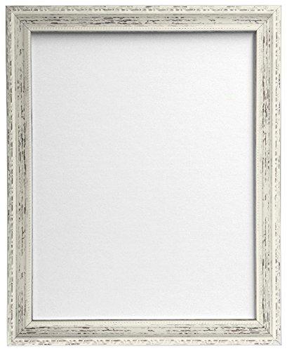 FRAMES BY POST AP-3025 - Cornice per Foto Anticata 50 x 70 cm con Vetro in plastica, Bianco