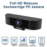 Full HD Webcam, TDW 1080P USB Webcam mit Mikrofon - PC Laptop Desktop Computer MacBook Mac Pro...