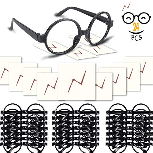 YoHold Wizard Glasses with Round Frame No Lenses...