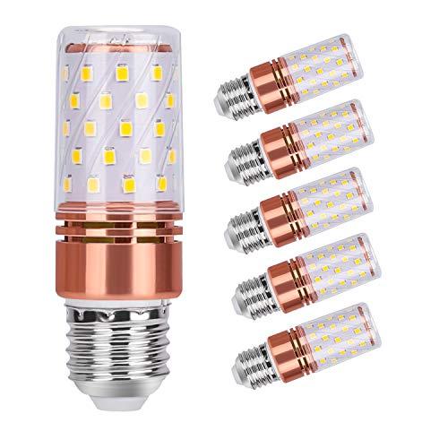 12W Lampadine LED E27 ( 6 Pezzi ), 60-LED Lampadine LED E27 Equivalente a 100W 120W, E27 3000K 1450M NON Dimmerabile Per Lampadario Bagno Cucina Camera da Letto Terra Interno Esterno (Bianca Calda)…