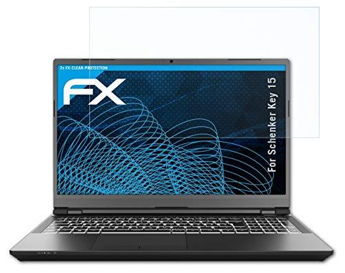 atFolix Schutzfolie kompatibel mit Schenker Key 15 Folie, ultraklare FX Bildschirmschutzfolie (2X)