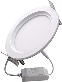 IMISS Lighting 9W 5 Inch White Ultra-Thin Circular Led Ceiling Panel Light , Downlight with Junction Box ,4000K Neutral White ,900lm , Dimmable, Energy Star & ETL Certified