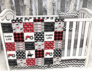 Baby Nursery Bedding, Baby, Farm LIfe, Cow, Chickens, Gender Neutral, Cowboy, Farmer, Tractor, Baby Bedding, Crib Bedding,...