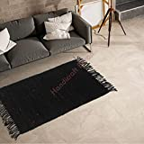 Handicraft Bazarr - Alfombra de yute tejida a mano de lana de yute Killim Hamp, alfombra de diseño, alfombra de salón, alfombra de yoga, Dhurrie