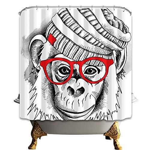 /N Tela de la Cortina de la Ducha del bao del Mono del Disfraz de la decoracin Animal