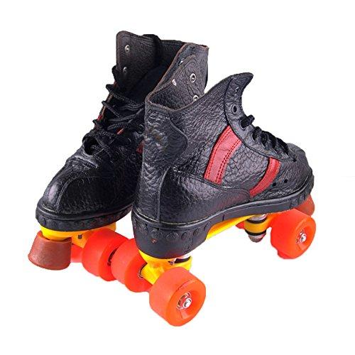 ZCRFY Patines En Línea Patines De Doble Fila Patines De Cuatro Ruedas Zapatillas De Skate para Adultos Patinaje para Patinaje Actividades Al Aire Libre,Black-44