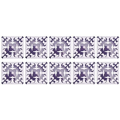 Pegatinas de pared, material de PVC con efecto de azulejo de imitación, adhesivo autoadhesivo para pared, fácil de usar para paredes, pisos, para embellecer la decoración(1)