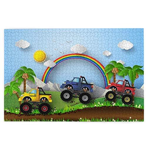 Rompecabezas de 1000 Piezas,Rompecabezas de imágenes,Tema del coche del juego de la animación del coche de la Juguetes puzzle for Adultos niños Interesante Juego Juguete Decoración Para El Hogar