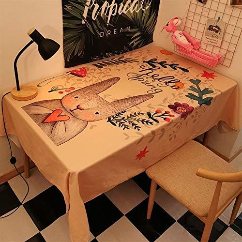 Stain stofdicht Doek Decoratieve tafellaken Simple Style Tafelkleed Lovely Vakantiehuis Dineren Party Met Tafelkleed Rechthoekige Tafelkleed (Color : G, Size : 140 * 180CM)
