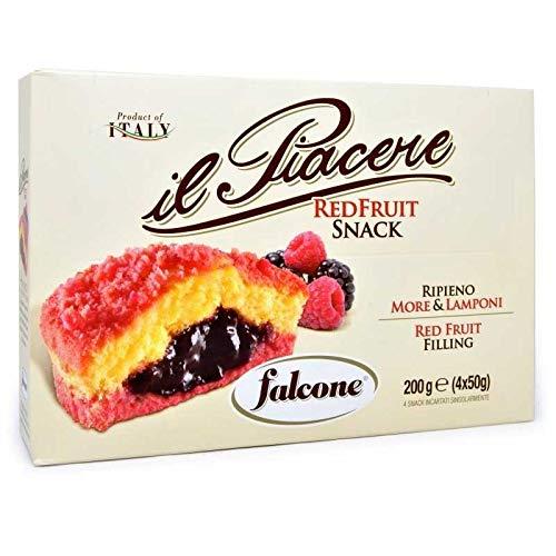 Il Piacere Red Fruit Snack Ripieno More & Lamponi 200 G -...
