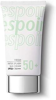 ESPOIR Water Splash Sun Cream Fresh 60ml SPF50+PA+++ | Water Droplet-Bursting Moisture Bomb Sun Cream with Green Tea for a...