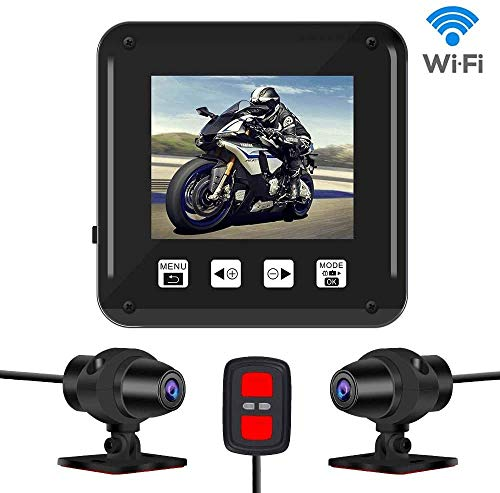 Dash cam,Dual 1080P Sport Accident Proof Camera DVR, Full Body Waterproof, IMX323, Front and Rear Camera Driving Recorder for Motorcycle, Bike(No Screen)