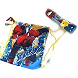 Set gama 'Spiderman'azul rojo (maletín de piscina + bolsa)120x60 cm.