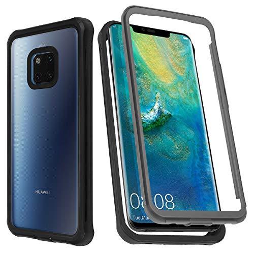 AIHülle Hülle für Huawei Mate 20 pro,Transparent Stoßfest Schutzhülle Hülle, 360 Grad Bumper Handyhülle Clear Cover mit Integriertem Bildschirmschutz für Huawei Mate 20 pro
