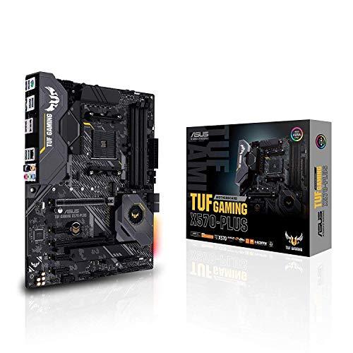 ASUS TUF Gaming X570-Plus ATX Motherboard, AMD Socket AM4, Ryzen 3000, 12+2 Dr. MOS, PCIe 4.0, M.2, DDR4, LAN, HDMI, USB 3.2, Aura Sync RGB (Renewed)