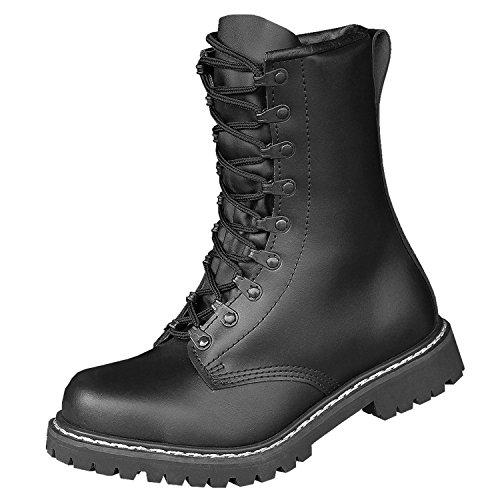 Brandit Springerstiefel para Boots, Schwarz mit Futter, 46 EU