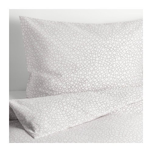 Ikea Tradaster Twin Duvet Cover and Pillowcases Gray 803.951.11