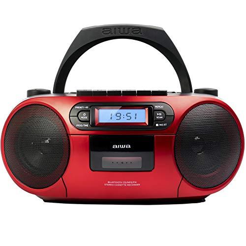 AIWA - BBTC-550, Stero con cassette portatile Bluetooth, CD, USB
