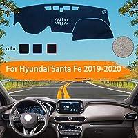 OZLXKNC 車のダッシュボードライトパッドプラットフォームデスクカバーを避けてくださいマットカーペットカーアクセサリーアンチUVダッシュ、ヒュンダイサンタフェ2019 2020TM用