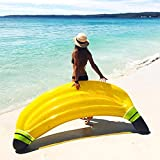 HSTD Banana Hinchable Colchonetas Piscina Agua Pool Float Juguetes Inflables, Natación Playa o Piscina Baño Juguete Inflable Flotador Gigante, para Adultos y Niños, 180X65CM Yellow